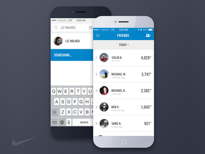 Nike+ Fuelband nike ios design ui ux interactive web app sports fuelband phone clean