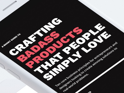 Crafting Badass Products That People Simply Love – (FREE PDF) ui design ux design product design book entrepreneurship guide free pdf ebook design
