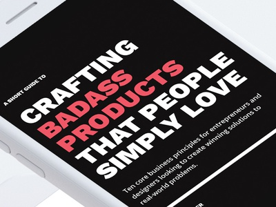 Crafting Badass Products That People Simply Love – (FREE PDF)