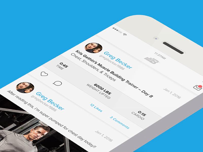 Bodyspace Refresh blue white clean app ios design ux ui