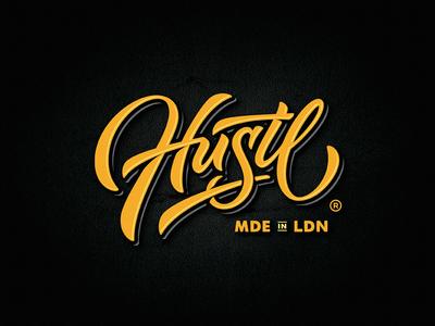 Hustl apparel vintage dalibass logo typography logotype custom hand-drawn lettering