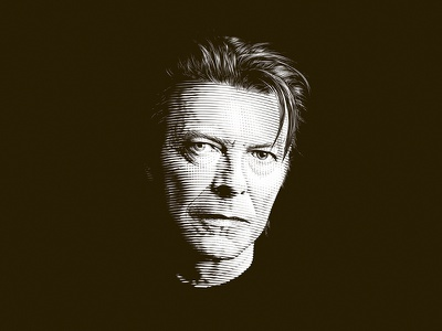 David Bowie portrait ziggy stardust rock singer music blackstar david bowie engraving crosshatching etching dalibass illustration custom hand-drawn