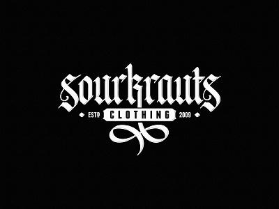 Sourkrauts calligraphy design dalibass logo typography logotype lettering custom hand-drawn