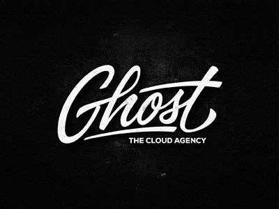 Ghost lettering custom logotype typograhy ghost agency paris hand-drawn