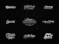 Lettering Logo Design Vol. 8