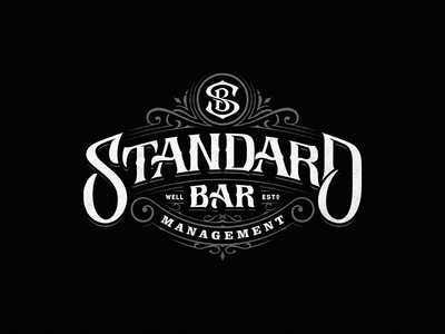 Standard Bar Management hand-drawn typography dalibass bar logotype logo custom lettering