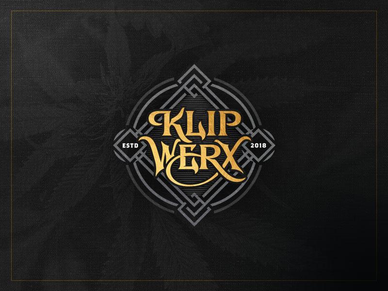 Klip Werx - Full Version hand-drawn cannabis team typography vintage logotype custom lettering