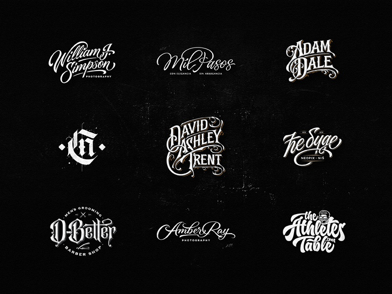 Lettering Logo Design Vol. 10 logo drawing music badge vintage dalibass typography logotype custom hand-drawn lettering