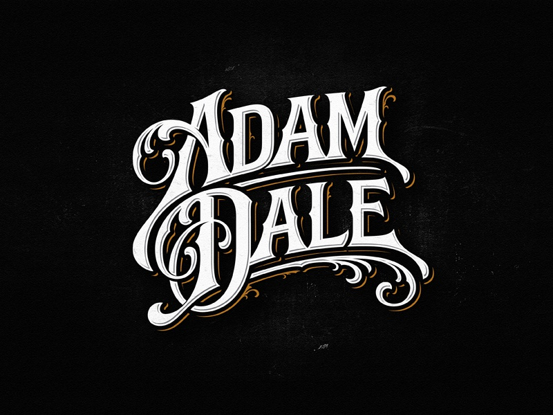 Adam Dale ngs music team vintage sketch drawing dalibass logo typography logotype custom hand-drawn lettering