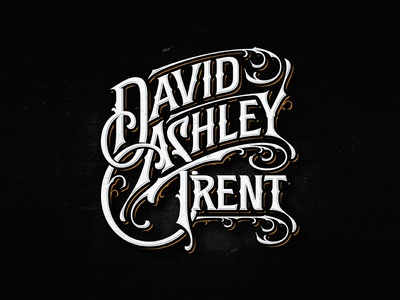 David Ashley Trent americana ngs team vintage sketch drawing dalibass logo typography logotype custom hand-drawn lettering