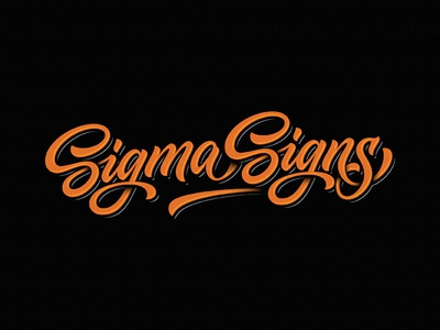 Sigma Signs sign writing sign ngs team vintage sketch drawing dalibass logo typography logotype custom hand-drawn lettering