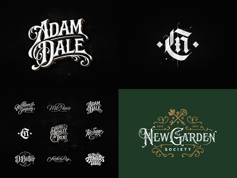 2018 team vintage sketch drawing dalibass logo typography logotype custom hand-drawn lettering