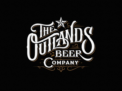 The Outlands Beer Company brewery brew beer team vintage sketch drawing dalibass logo typography logotype custom hand-drawn lettering