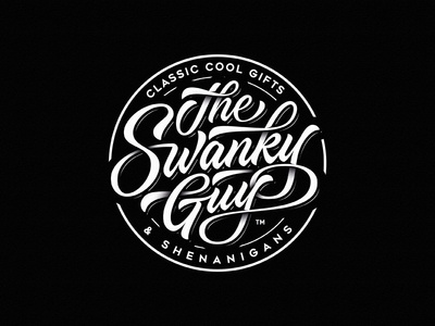 The Swanky Guy badge drawing dalibass logo typography logotype custom hand-drawn lettering