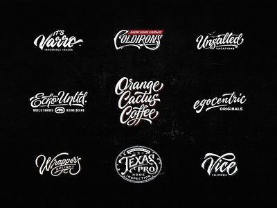 Lettering Logo Design Vol. 11 ngs apparel food coffee photography music badge team vintage sketch drawing dalibass logo typography logotype custom hand-drawn lettering