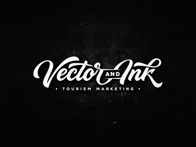 Vector and Ink ink vintage drawing dalibass logo typography logotype custom hand-drawn lettering