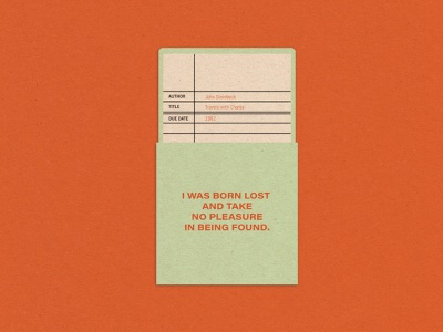 Library Card design vintage typography illustration