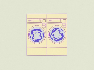 Washing Machine vintage vector design illustration