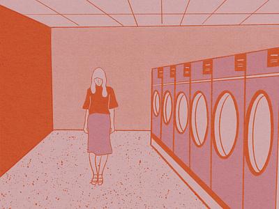 Laundromat illustration design