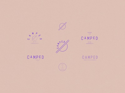 Camped vector typography minimal logo branding illustration design