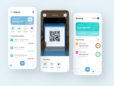 e-Wallet Mobile App payment app payment wallet ui wallet app wallet uiuxdesign minimal mobile ux ui design app