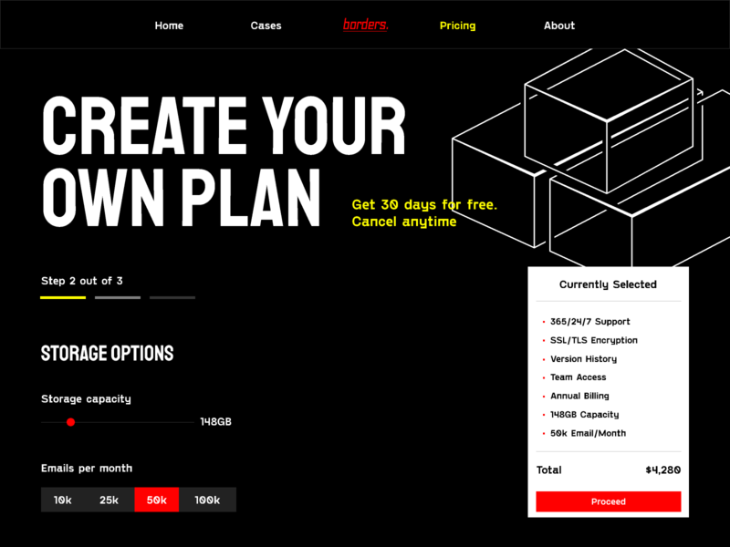 borders. Plans Configurator configurator borders custom plan subscriptions plans