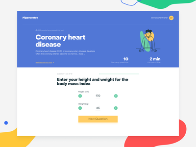 Hippocrates—Test Page healthcare health progress illustration question survey hippocrates test