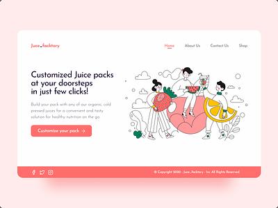 Juce_facktory uiux web page webdesign minimal design juice web juice clean design hero section uidesign ui