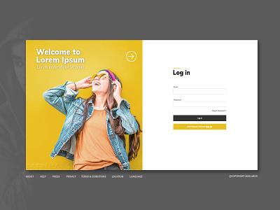 Login page web design ux responsive ui webdesign