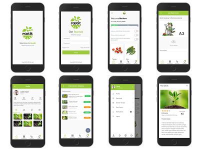 Gardening Mobile responsive vector web ux ui design responsive garden