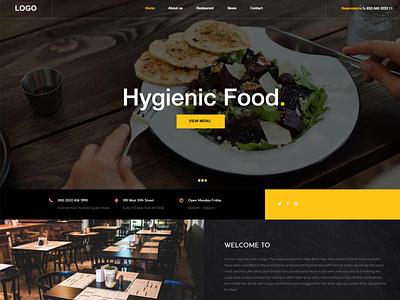 Restaurant Website responsive hotel restuarant webdesign