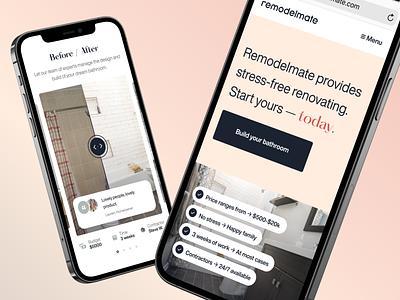 Remodelmate Responsive renovations responsive website mobile website responsive web website design web designer web design website