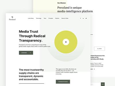 Pressland - Home Page web website design typography media press white website webdesign uiuxdesign ux ui landing page home page design home page