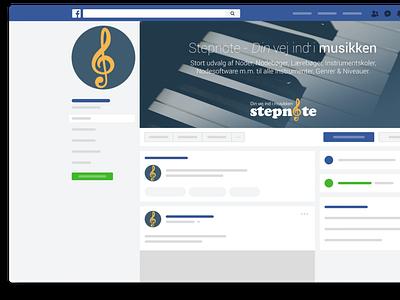 Stepnote facebook profile. facebook cover