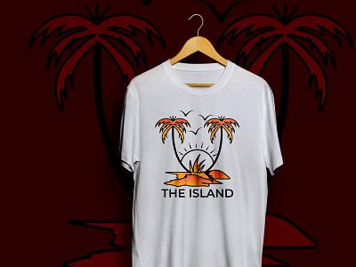 The Island New Summer T shirt Design fashion brand apparel design redesign typography graphicdesign tshirtdesign summertime summer minimal art branding apparel minimalism illustration trendy t-shirt design creative t-shirt design sketch vector summer t-shirt deisgn bulk t-shirt designs