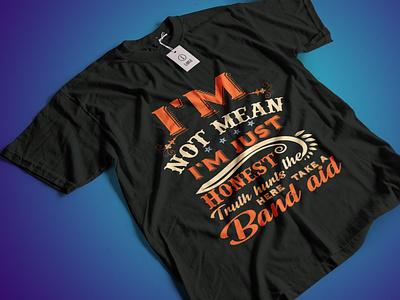 I'm not Mean I'm Just Honest T-shirt Design design vector amazing t shirt design vintage t-shirt design minimalism illustration minimal trendy t-shirt design bulk t-shirt designs creative t-shirt design