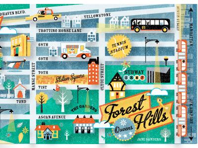 My neighborhood map by jane sanders on Dribbble
