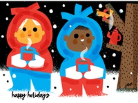 Jane Sanders Mats holiday card