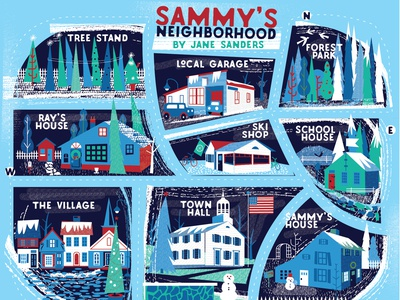 Sammy's winter neighborhood