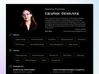 CV – Graphic Designer typography vector design custom cv resume cv