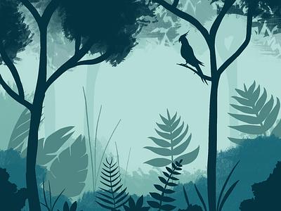 Tropical Forest – Procreate illustration background digital art illustration procreate