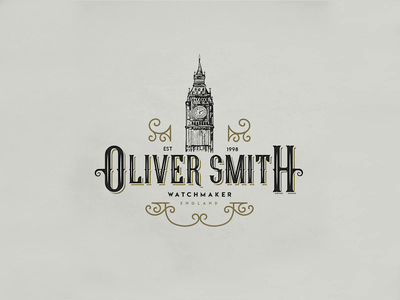 Oliver Smith | Watchmaker | Logo Design business logo logodesign adobe illustrator wacom tablet vector illustration vector art vector logo designer logo a day logo illustrator logos illustration logo illustration logo design logo