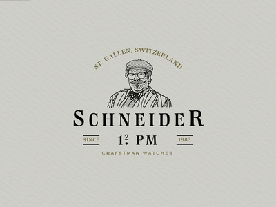 Schneider | Watches | Logo Illustration Design professional logo scratchboard crosshatching logodesign timelapse etching design process logo design logo vintage logo adobe illustrator logo designer illustration business logo