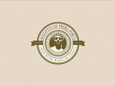 Augustus of Prima Porta   Red Wine l Logo Design