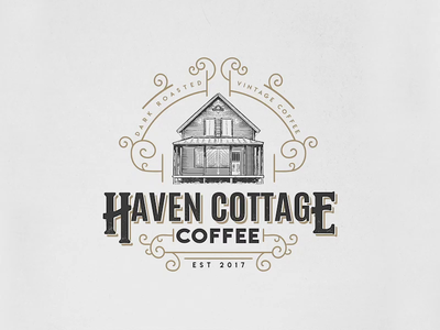 Haven Cottage | Coffee | Logo Design process flow process video logos scratchboard timelapse design process etching logo design adobe illustrator logo illustration vintage logo business logo logo designer