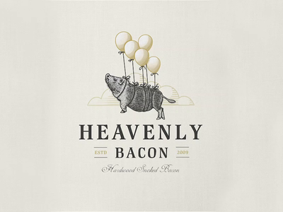 Heavenly Bacon 🥓 | Logo Illustration logotype professional logo professional logo design time lapse logodesign design process etching adobe illustrator logo design logo illustration vintage logo business logo logo designer