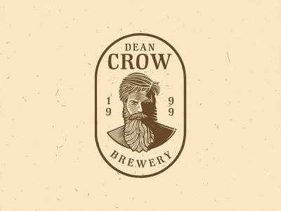 Dean Crow | Brewery | Logo Design wacom tablet wain cintiq vintage logo vector design logotype logo designs logo designer logo design logo illustration logo illustration graphic design etching business logo