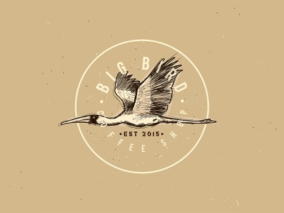Big Bird | Coffee Shop | Logo Design vintage logo vector time lapse logo designer logo design logo illustration design illustration art illustration design process business logo brand design