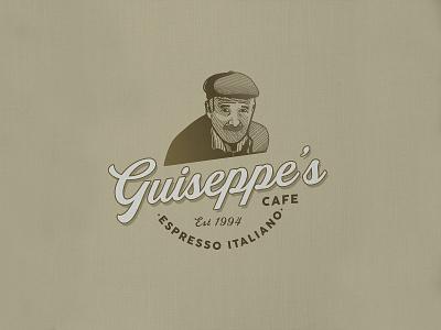Guiseppe's | Cafe | Logo Design vintage logo timelapse logos logotype logodesigner logo design logodesign business logos adobe illustration etching design process crosshatch business logo adobe illustrator