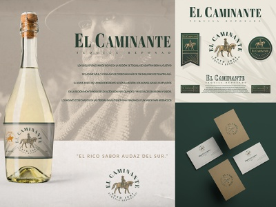 El Caminante | Brand Desgin logo designer for hire designer for hire badge design logo illustration art vintage logo vector scratchboard logo designer illustration graphic design etching engraving design process crosshatch business logo branding adobe illustrator logo design